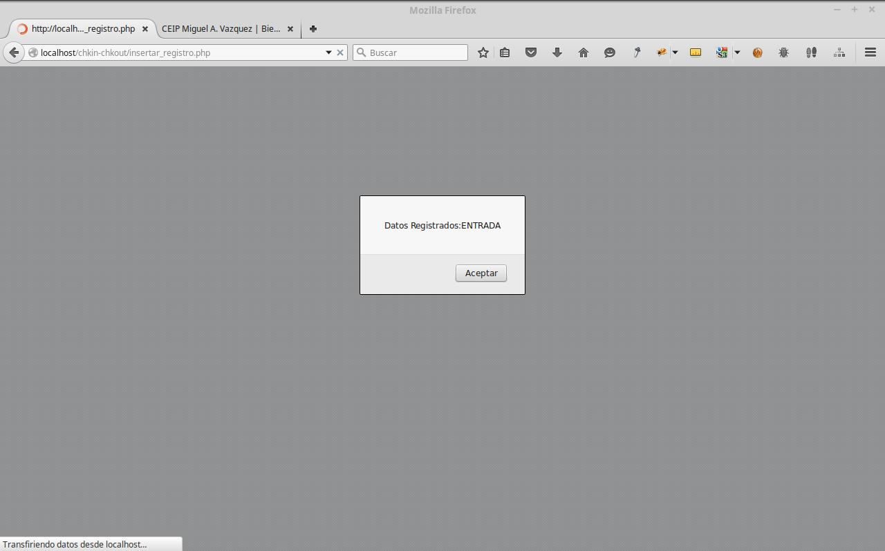 Registro de Entrada y Salida en Html5 PHP y Mysql – elcuartodeangel